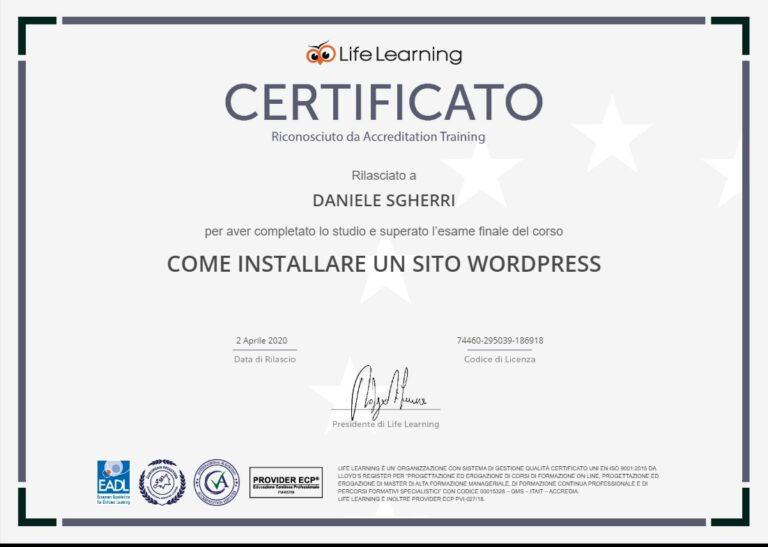 Come installare un sito WordPress (02/04/2020)