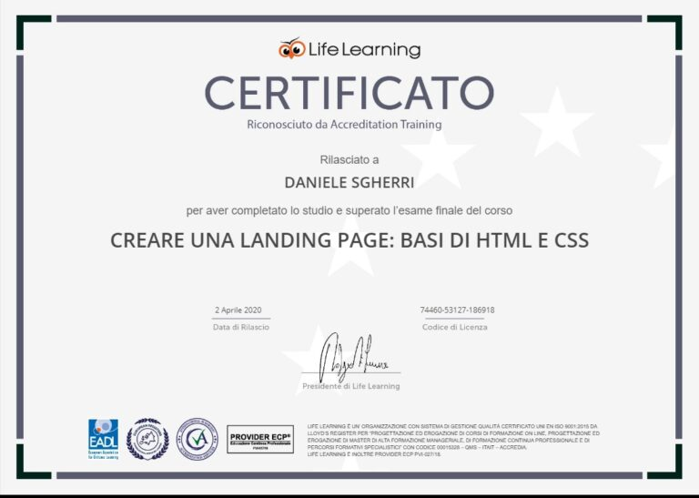 Creare una Landing Page. Basi di HTML e CSS (02/04/2020)