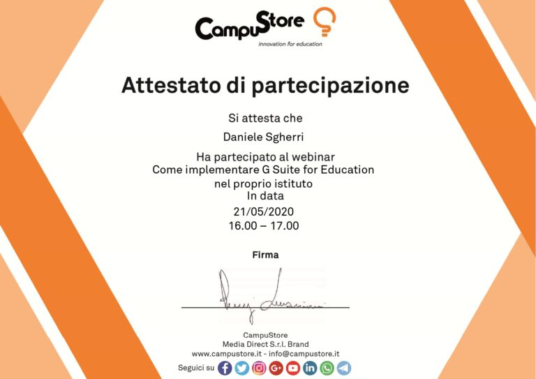 Come implementare G Suite for Education nel proprio istituto (21/05/2020)