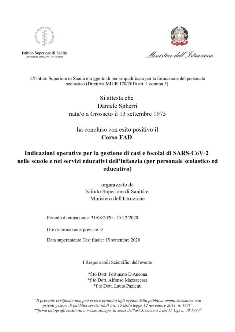 Indicazioni operative per la gestione di casi di focolai di SARS-CoV-2 nelle scuole e nei servizi educativi dell'infanzia (15/09/2020)