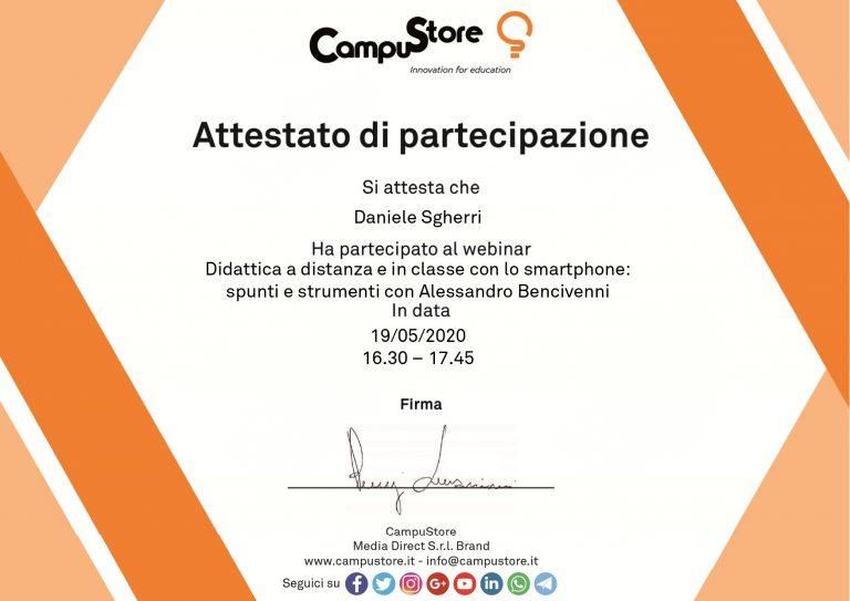 Didattica a distanza e in classe con lo smartphone: spunti e strumenti con Alessandro Bencivenni (19/05/2020)